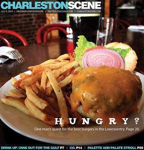 My very first cover image for the Charleston Scene..The weekly magazine insert for the Post and Courier...cover story is the best burgers in Charleston!!